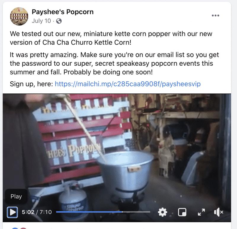 Popcorn Business Testimonial